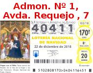 Lotería Navidad 2018